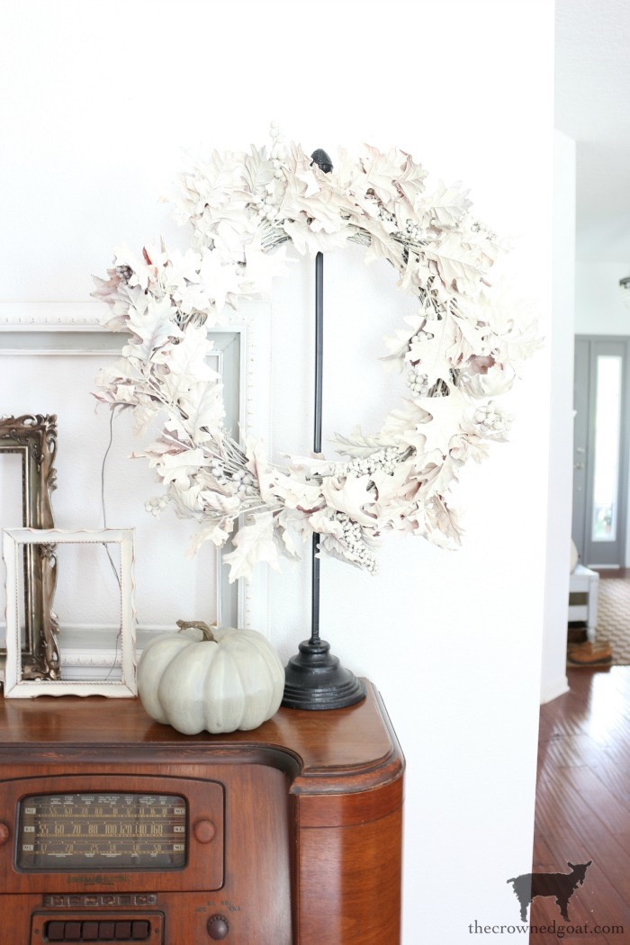 How-to-Repurpose-an-Old-Fall-Wreath-The-Crowned-Goat-11 How to Repurpose an Old Fall Wreath Decorating DIY Fall