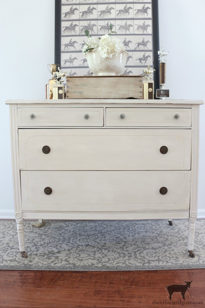 Marzipan-Milk-Paint-Dresser-The-Crowned-Goat-15 Miss Mustard Seed Milk Paint Dresser in Marzipan DIY Painted Furniture