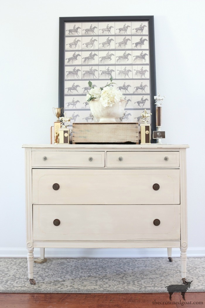 Marzipan-Milk-Paint-Dresser-The-Crowned-Goat-16 Miss Mustard Seed Milk Paint Dresser in Marzipan DIY Painted Furniture