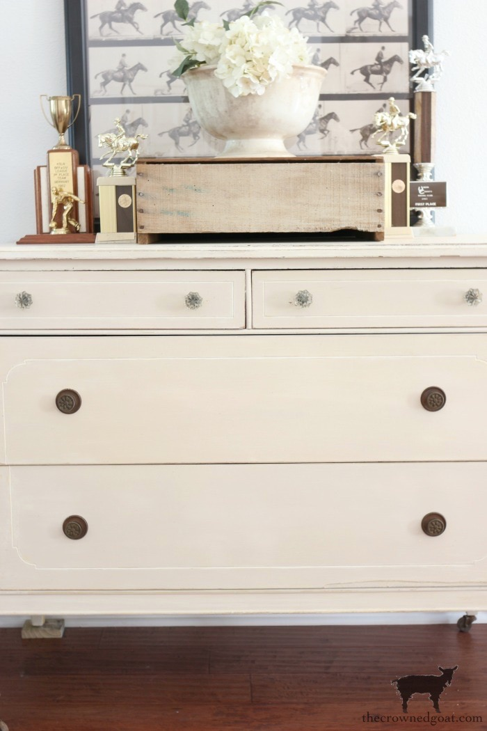 Marzipan-Milk-Paint-Dresser-The-Crowned-Goat-20 Miss Mustard Seed Milk Paint Dresser in Marzipan DIY Painted Furniture