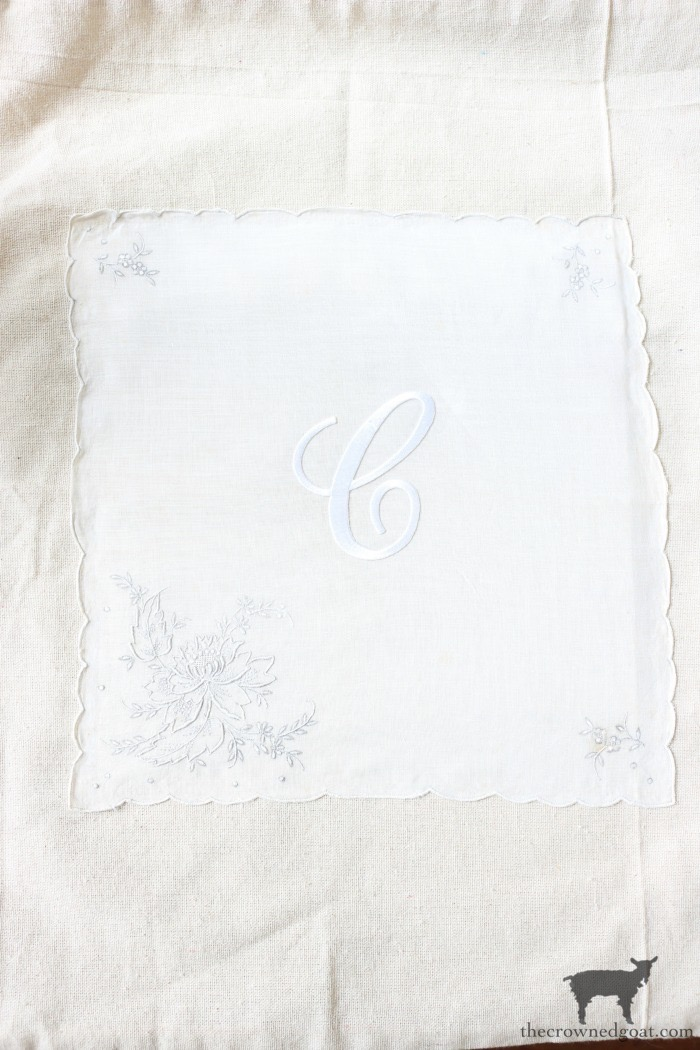 Vintage-Monogrammed-No-Sew-Pillow-Cover-The-Crowned-Goat-12 Vintage Monogrammed No Sew Pillows Decorating DIY