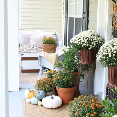 Fall Front Porch Tour