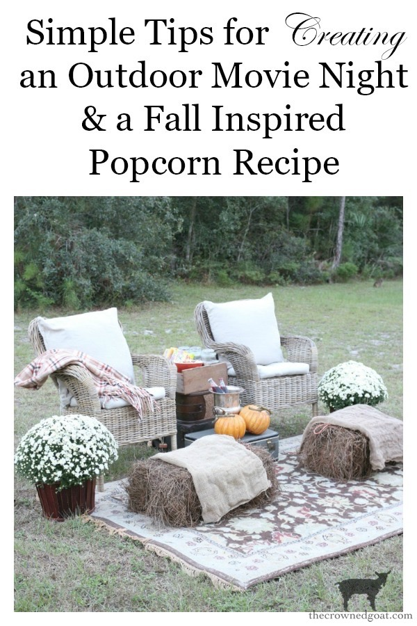 Fall-Outdoor-Movie-Night-The-Crowned-Goat-12 Outdoor Movie Night & Fall Popcorn Recipe DIY Fall