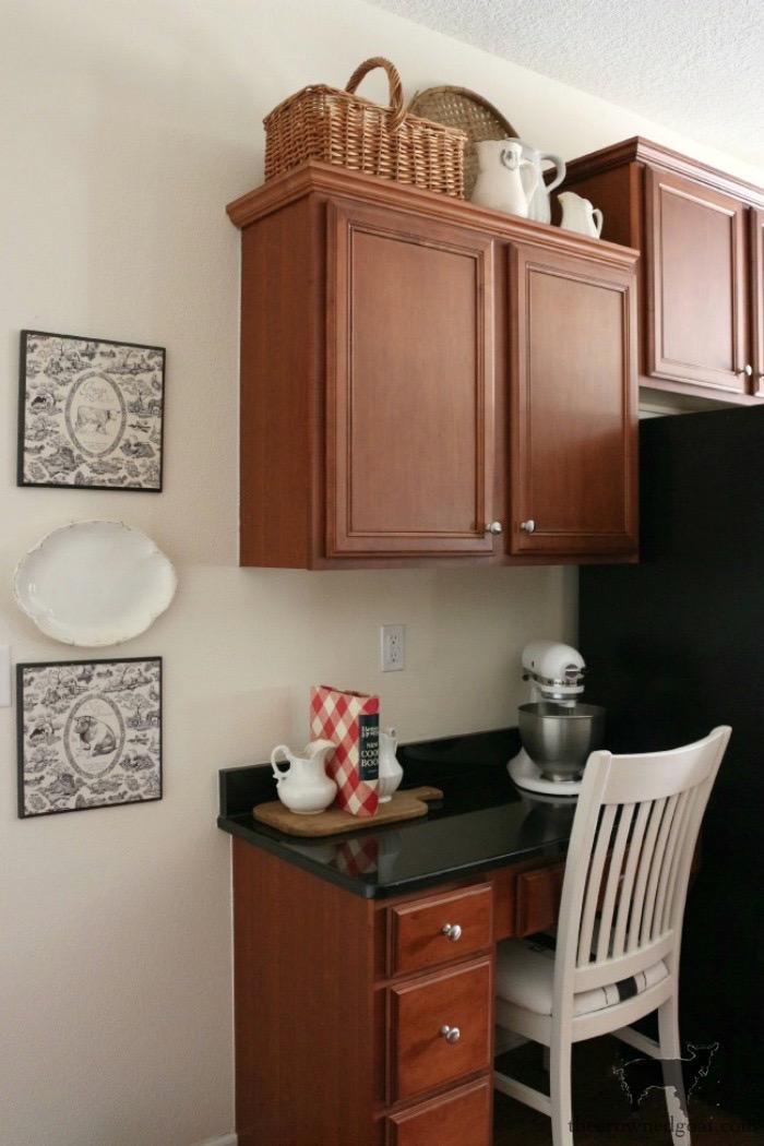 Farmhouse-Kitchen-Makeover-Reveal-2 Kitchen Desk Makeover Reveal Decorating DIY One_Room_Challenge