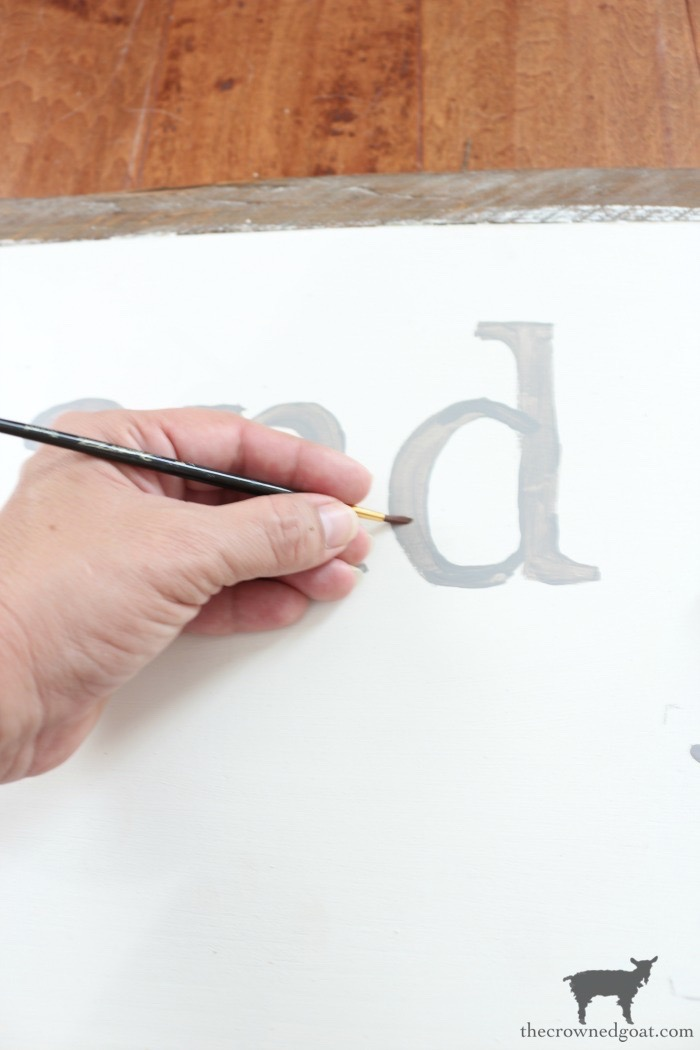 How-to-Make-a-Sign-The-Crowned-Goat-10 The Easiest Way to Make a Sign Decorating DIY