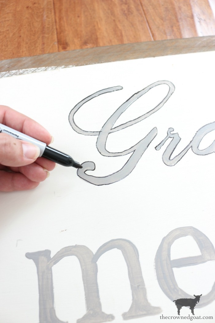 How-to-Make-a-Sign-The-Crowned-Goat-11 The Easiest Way to Make a Sign Decorating DIY