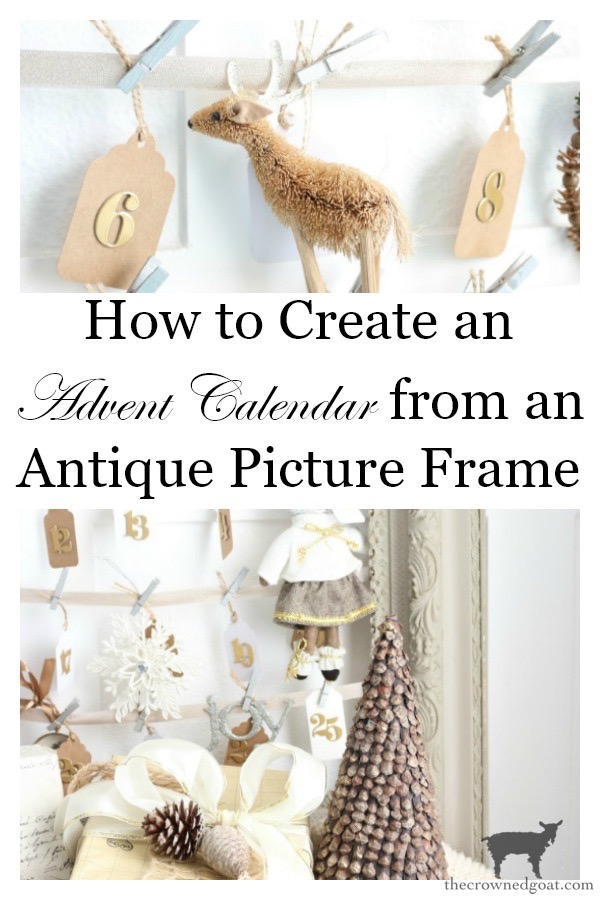 Antique-Picture-Frame-Advent-Calendar-The-Crowned-Goat-20 Antique Picture Frame Advent Calendar Christmas DIY