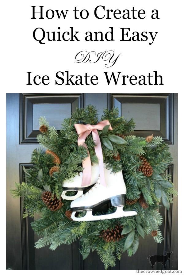 DIY-Ice-Skate-Wreath-The-Crowned-Goat-10 DIY Ice Skate Wreath Christmas Holidays