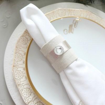 Holiday Inspired DIY Napkin Rings