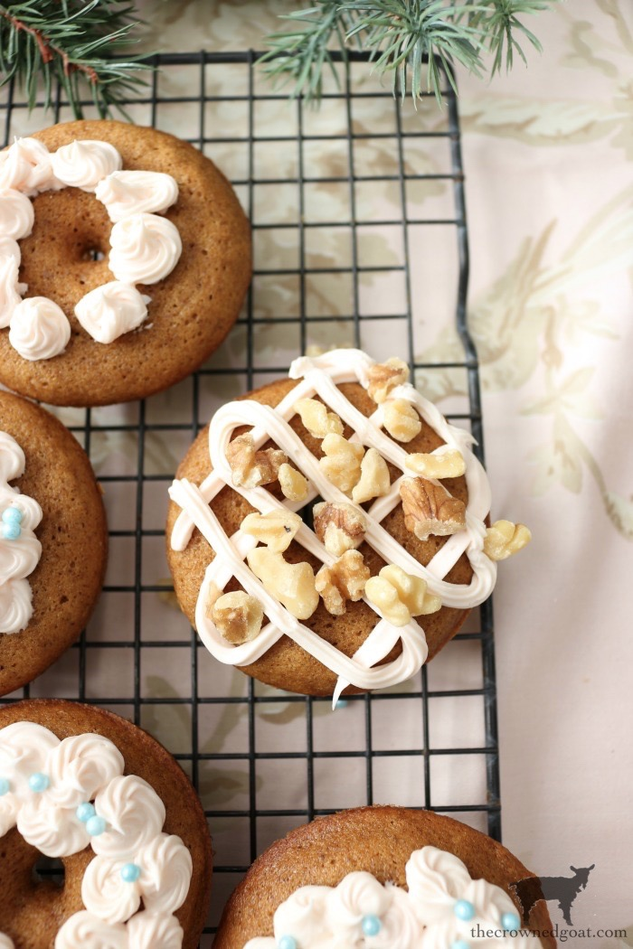 Quick-Easy-Gingerbread-Donuts-The-Crowned-Goat-13 Quick & Easy Gingerbread Cake Donuts Baking Christmas Holidays