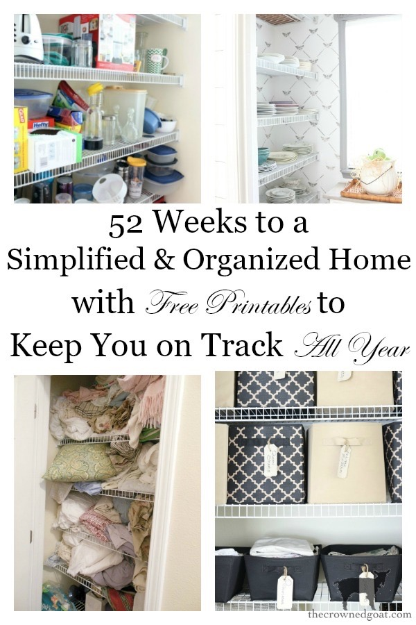 52-Weeks-to-a-Simplified-and-Organized-Home-The-Crowned-Goat-10 52 Weeks to a Simplified & Organized Home Challenge DIY Organization