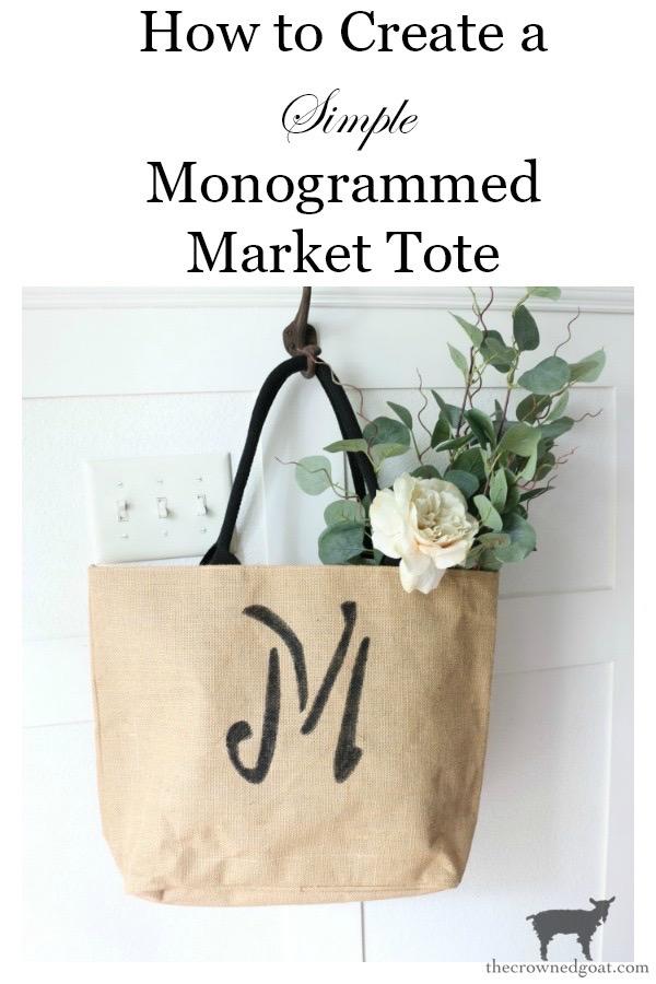 DIY-Monogrammed-Tote-The-Crowned-Goat-17 DIY Monogrammed Market Tote Crafts DIY