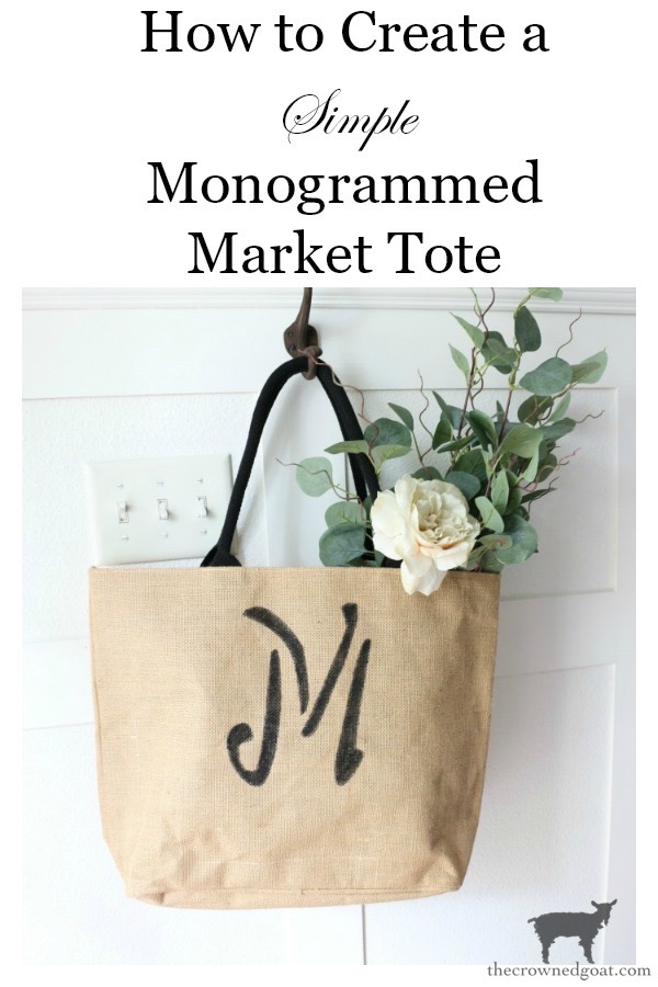 DIY-Monogrammed-Tote-The-Crowned-Goat-17 DIY Monogrammed Market Tote Crafts DIY