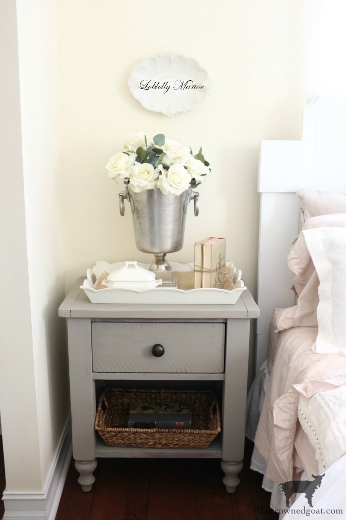 French-Linen-Nightstand-Makeover-The-Crowned-Goat-10 French Linen Nightstand Makeover Decorating DIY Painted Furniture