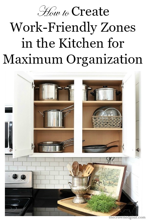 How-to-Create-Work-Zones-in-the-Kitchen-The-Crowned-Goat-24 How to Organize Your Kitchen into Work-Friendly Zones DIY Organization