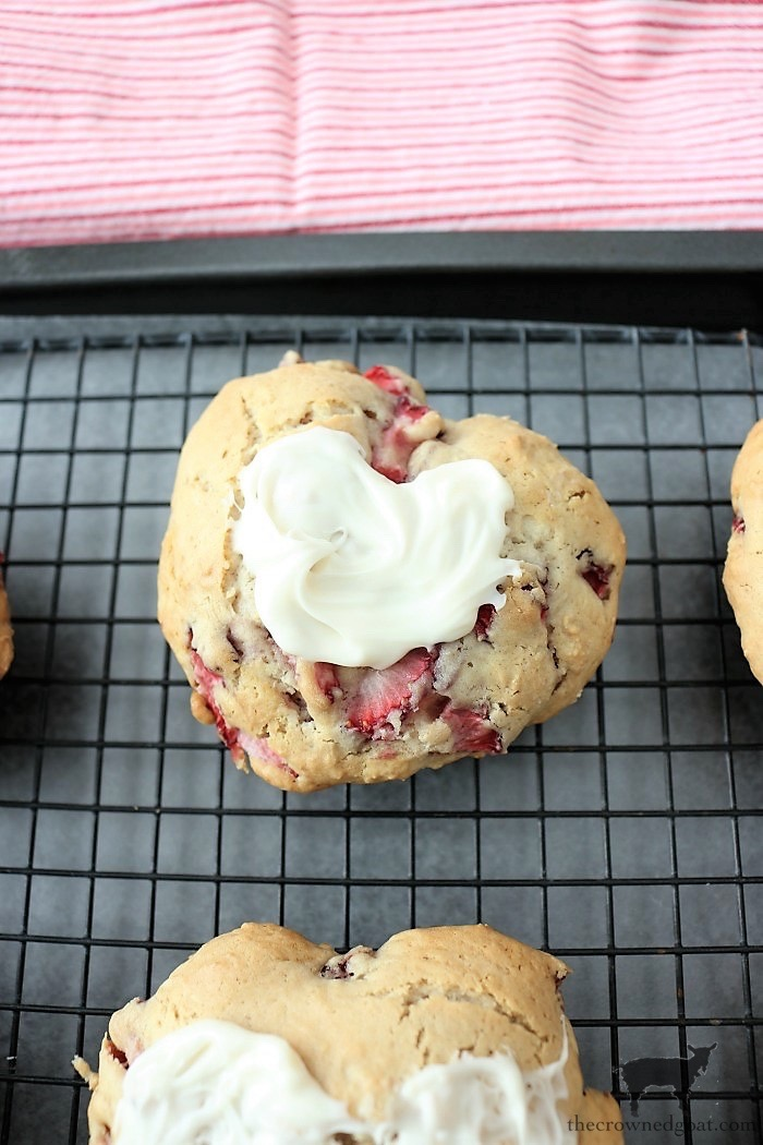Strawberry-Almond-Scone-Recipe-The-Crowned-Goat-7 Strawberry Almond Scone Recipe Baking Holidays Valentines