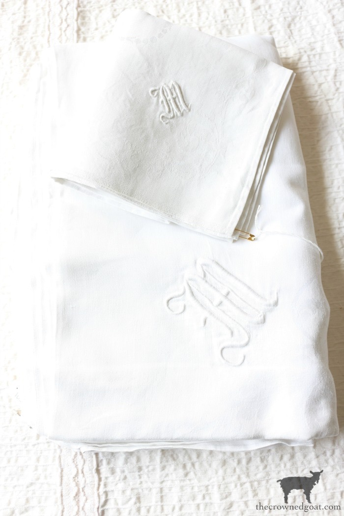 Vintage-Monogrammed-Linens-The-Crowned-Goat-5 Latest Finds from the Treasure Trail Decorating Thrifted Finds