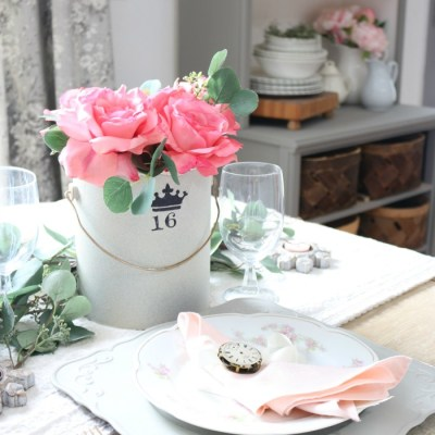 Vintage Valentine's Day Tablescape and Blog Hop