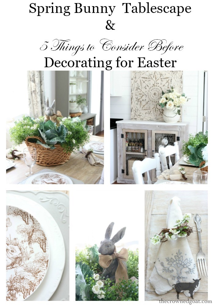 Bunny-Tablescape-The-Crowned-Goat-18 Spring Bunny Tablescape Decorating DIY Holidays Spring