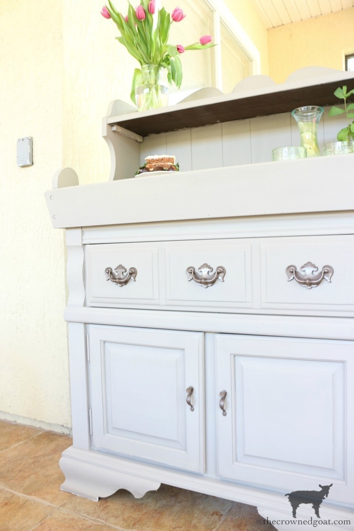 Dry-Sink-Drink-Station-Makeover-The-Crowned-Goat-10 Dry Sink Drink Station Makeover Decorating DIY Painted Furniture