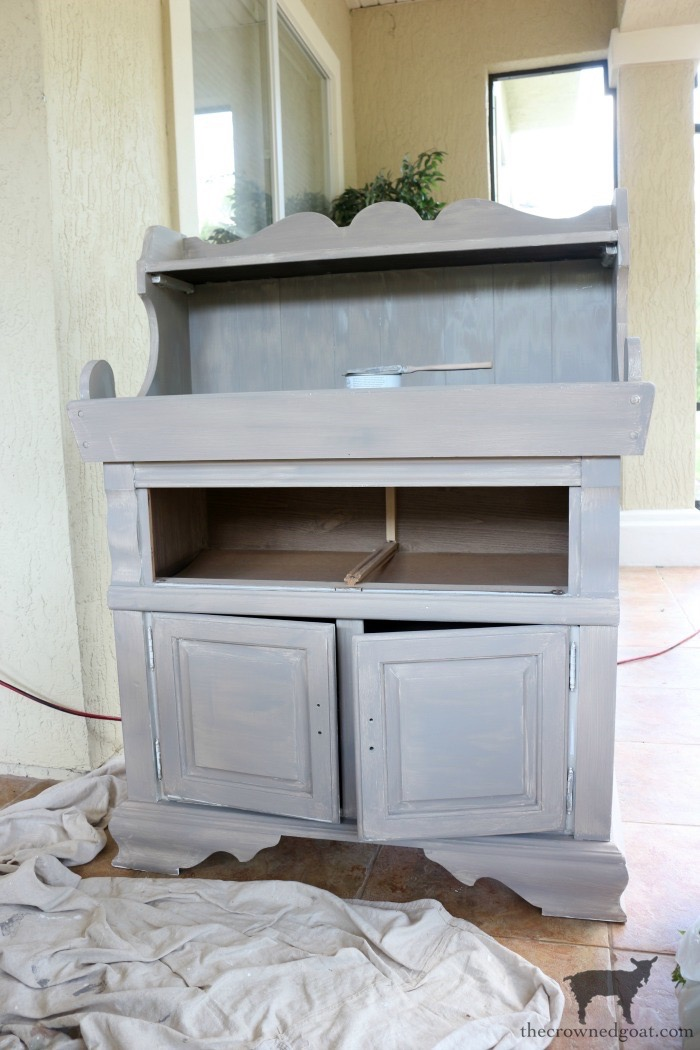 Dry-Sink-Drink-Station-Makeover-The-Crowned-Goat-7 Dry Sink Drink Station Makeover Decorating DIY Painted Furniture