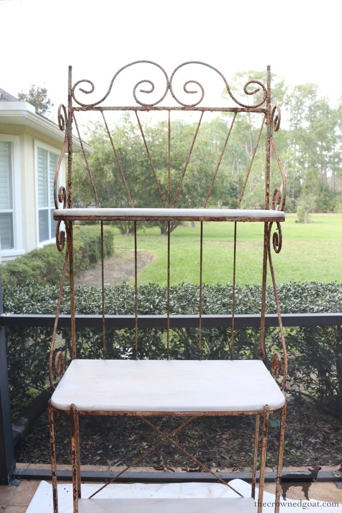 French-Farmhouse-Bakers-Rack-Makeover-The-Crowned-Goat-6 French Farmhouse Style Baker's Rack Makeover Decorating DIY Painted Furniture