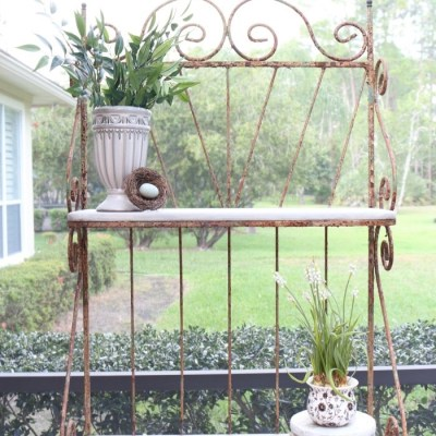 French Farmhouse Style Baker's Rack Makeover