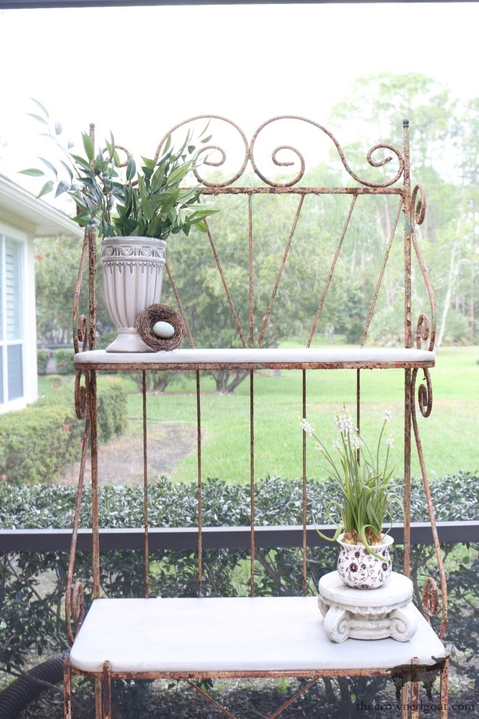 French-Farmhouse-Bakers-Rack-Makeover-The-Crowned-Goat-9 French Farmhouse Style Baker's Rack Makeover Decorating DIY Painted Furniture