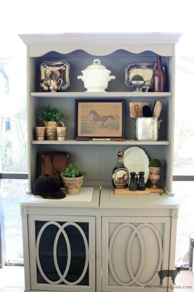 Outdoor Hutch & Buffet in French Linen
