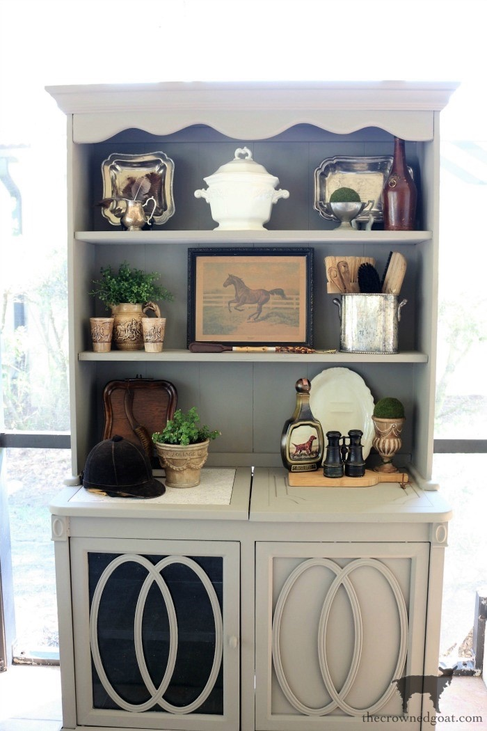 Outdoor-Buffet-Hutch-French-Linen-The-Crowned-Goat-10 Outdoor Hutch & Buffet in French Linen Decorating DIY Painted Furniture