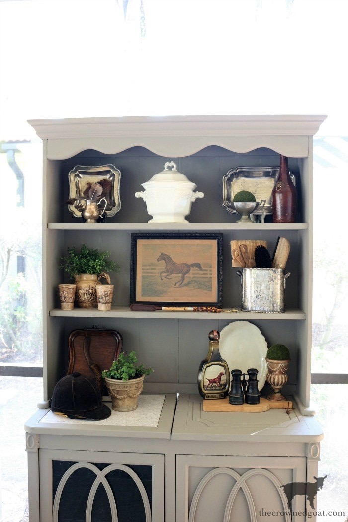 Outdoor-Buffet-Hutch-French-Linen-The-Crowned-Goat-5 Outdoor Hutch & Buffet in French Linen Decorating DIY Painted Furniture