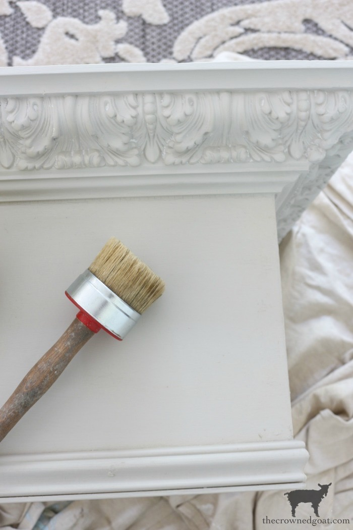 DIY-Bed-Crown-The-Crowned-Goat-11 DIY French Country Bed Crown Decorating DIY One_Room_Challenge Painted Furniture