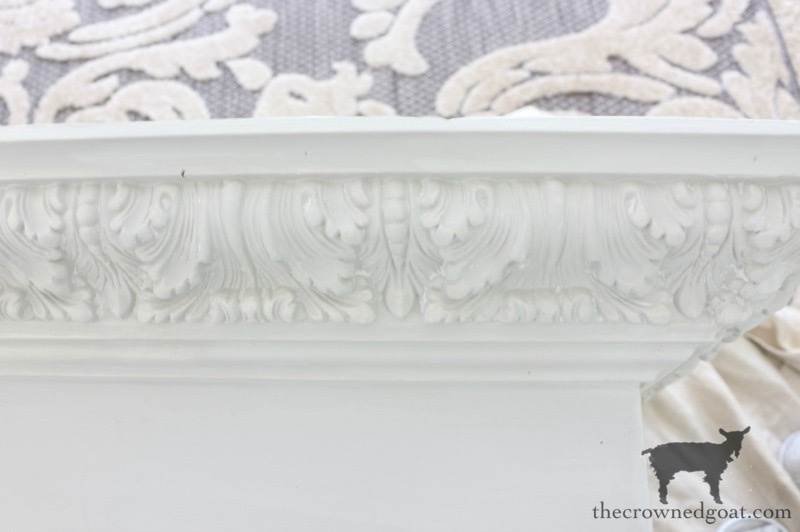 DIY-Bed-Crown-The-Crowned-Goat-7 DIY French Country Bed Crown Decorating DIY One_Room_Challenge Painted Furniture