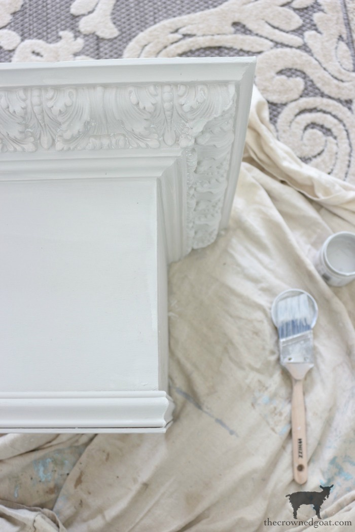 DIY-Bed-Crown-The-Crowned-Goat-8 DIY French Country Bed Crown Decorating DIY One_Room_Challenge Painted Furniture