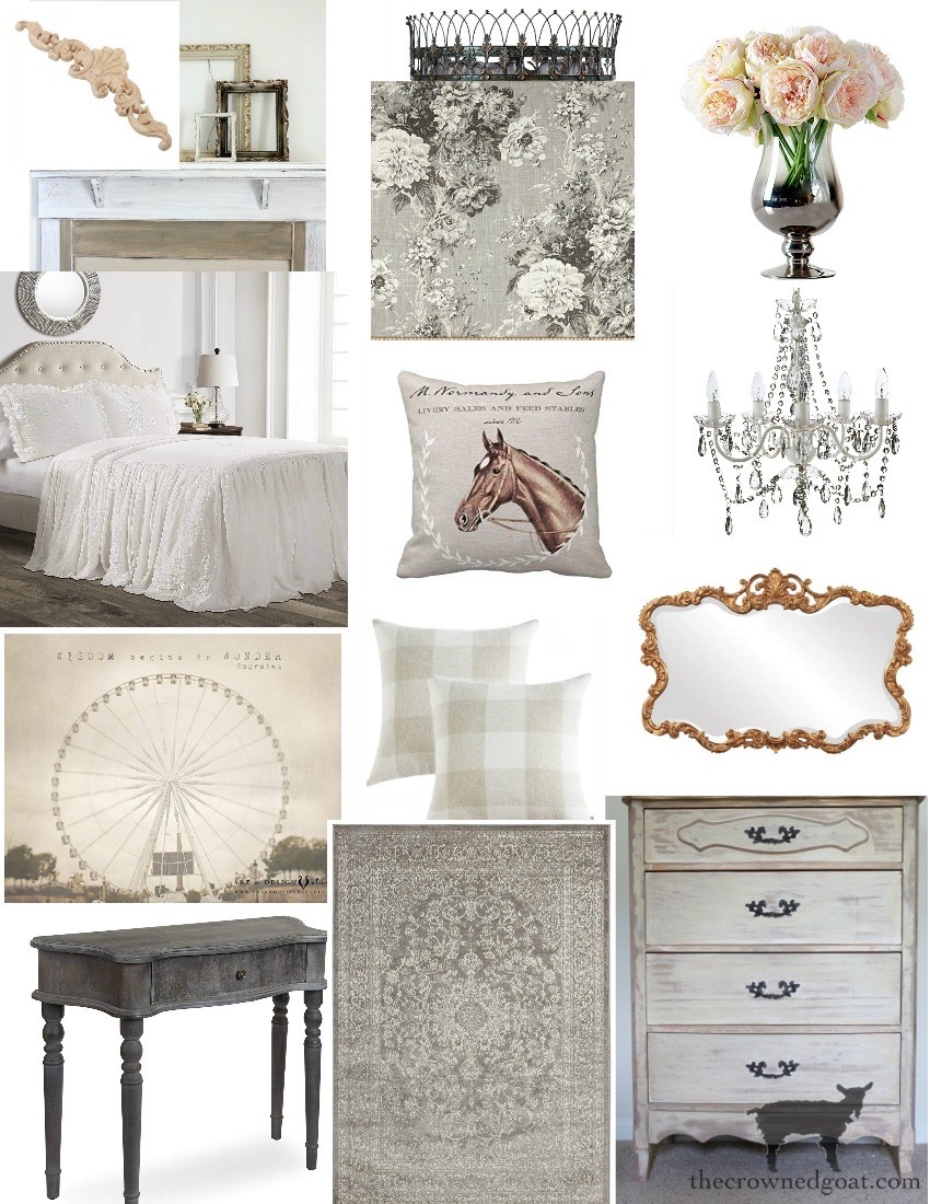 French-Country-Desk-Makeover-The-Crowned-Goat-1 French Country Desk Makeover Decorating DIY One_Room_Challenge Painted Furniture