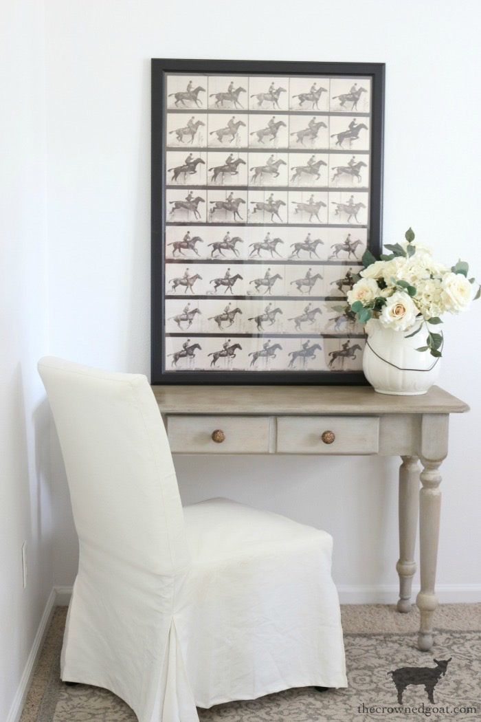 French-Country-Desk-Makeover-The-Crowned-Goat-20 French Country Desk Makeover Decorating DIY One_Room_Challenge Painted Furniture