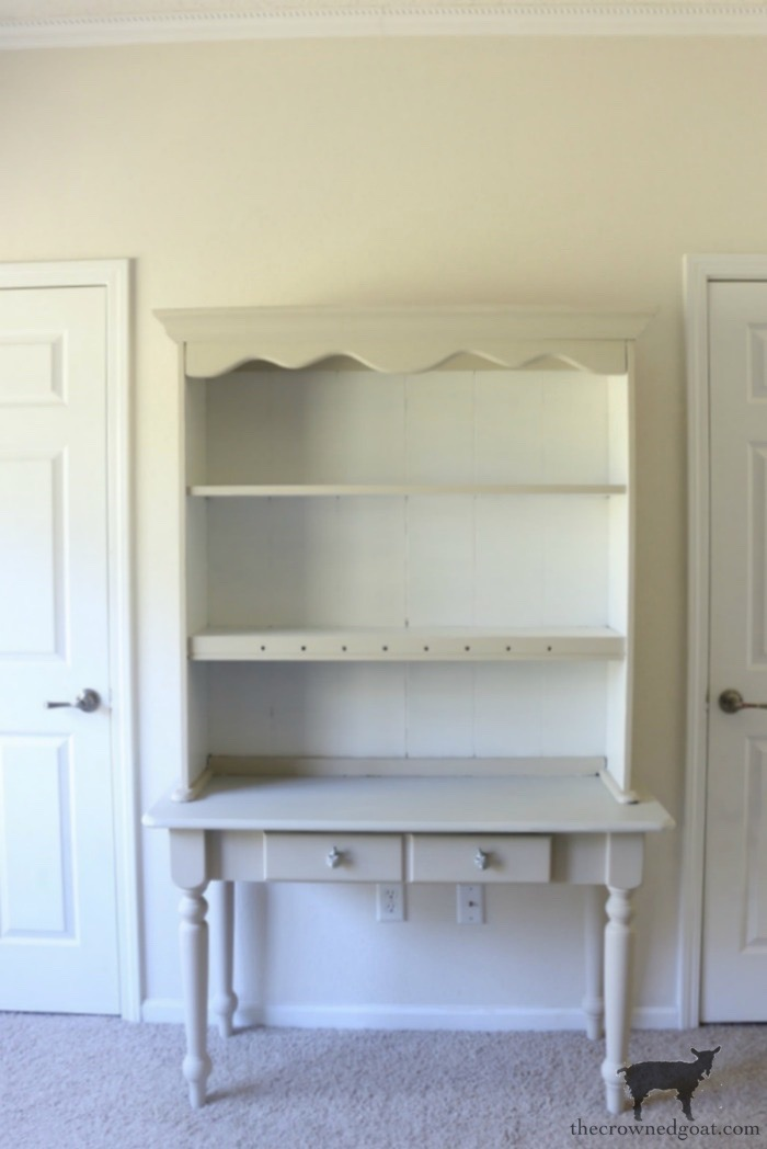 French-Country-Desk-Makeover-The-Crowned-Goat-4 French Country Desk Makeover Decorating DIY One_Room_Challenge Painted Furniture