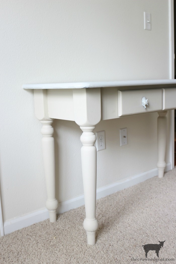 French-Country-Desk-Makeover-The-Crowned-Goat-8 French Country Desk Makeover Decorating DIY One_Room_Challenge Painted Furniture