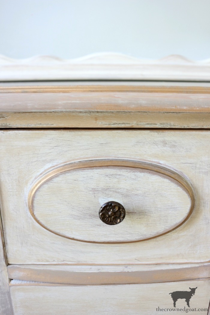 Gold-Accents-French-Country-Dresser-The-Crowned-Goat-11 Adding Gold Accents to a French Farmhouse Dresser Decorating One_Room_Challenge Painted Furniture