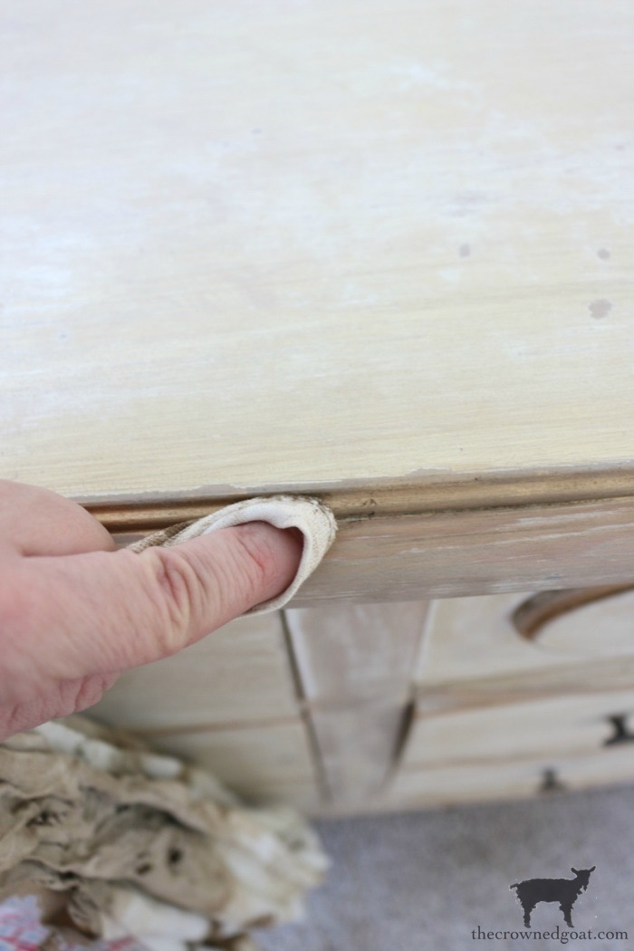 Gold-Accents-French-Country-Dresser-The-Crowned-Goat-14 Adding Gold Accents to a French Farmhouse Dresser Decorating One_Room_Challenge Painted Furniture