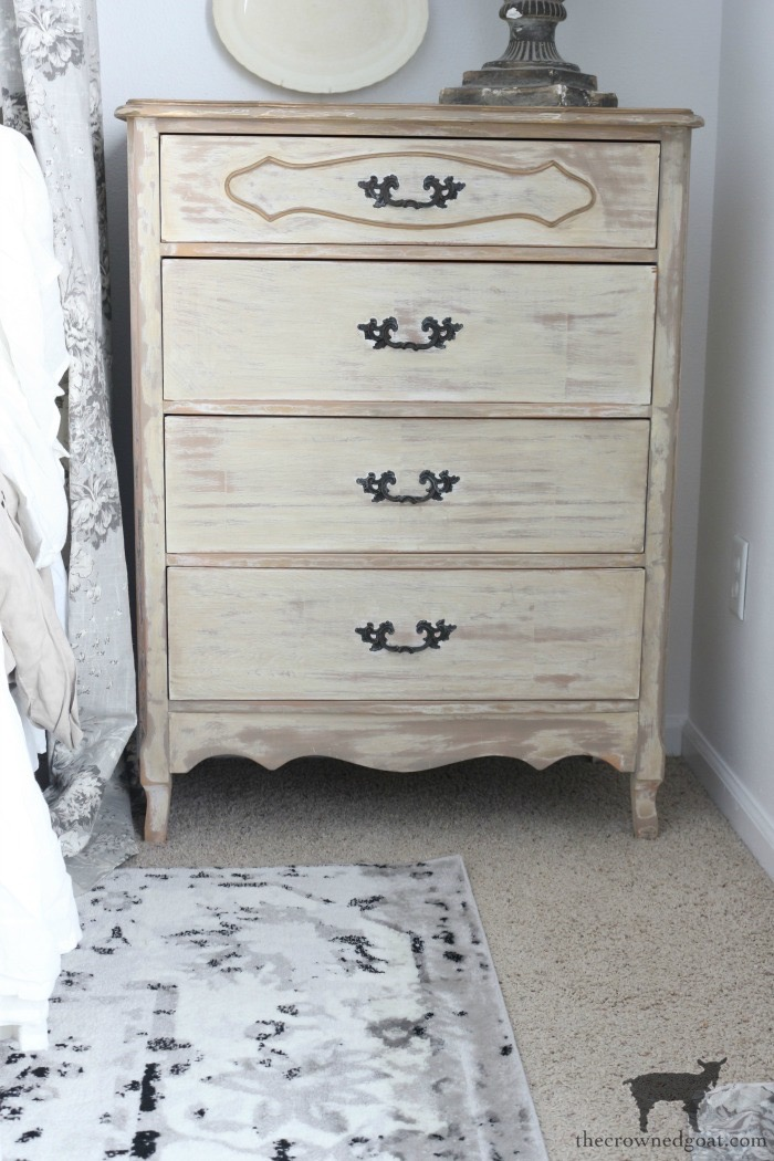 Gold-Accents-French-Country-Dresser-The-Crowned-Goat-18 Adding Gold Accents to a French Farmhouse Dresser Decorating One_Room_Challenge Painted Furniture