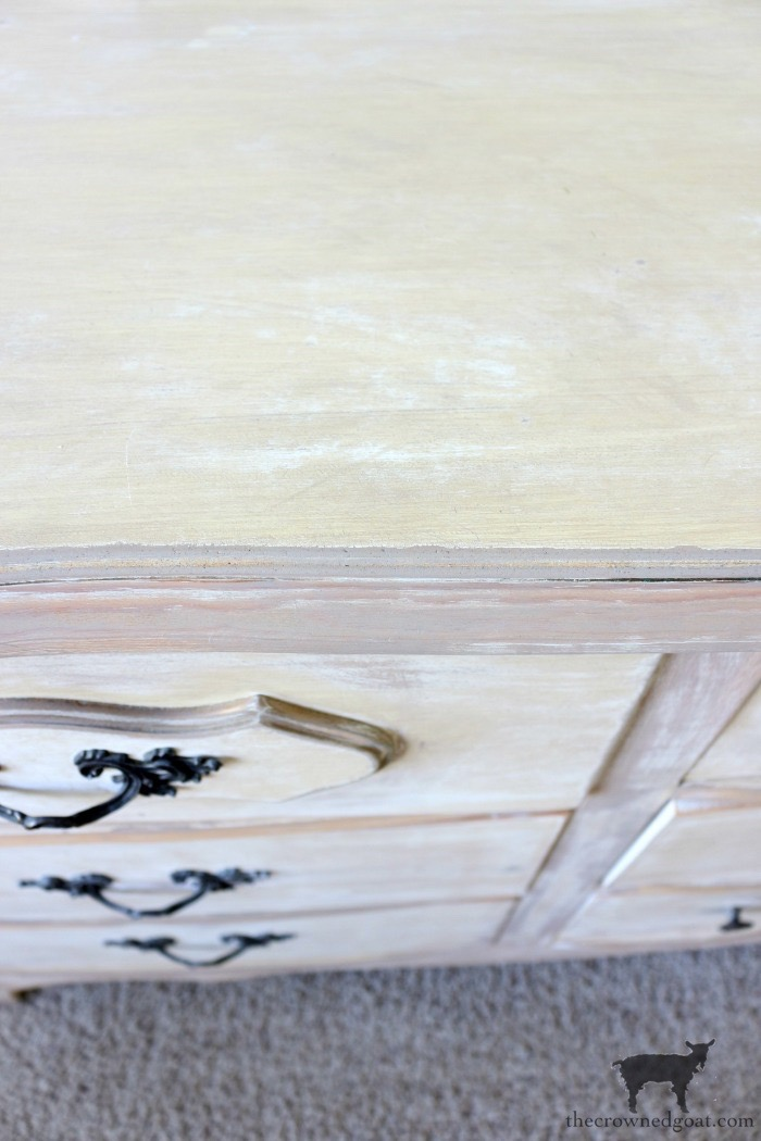Gold-Accents-French-Country-Dresser-The-Crowned-Goat-7 Adding Gold Accents to a French Farmhouse Dresser Decorating One_Room_Challenge Painted Furniture
