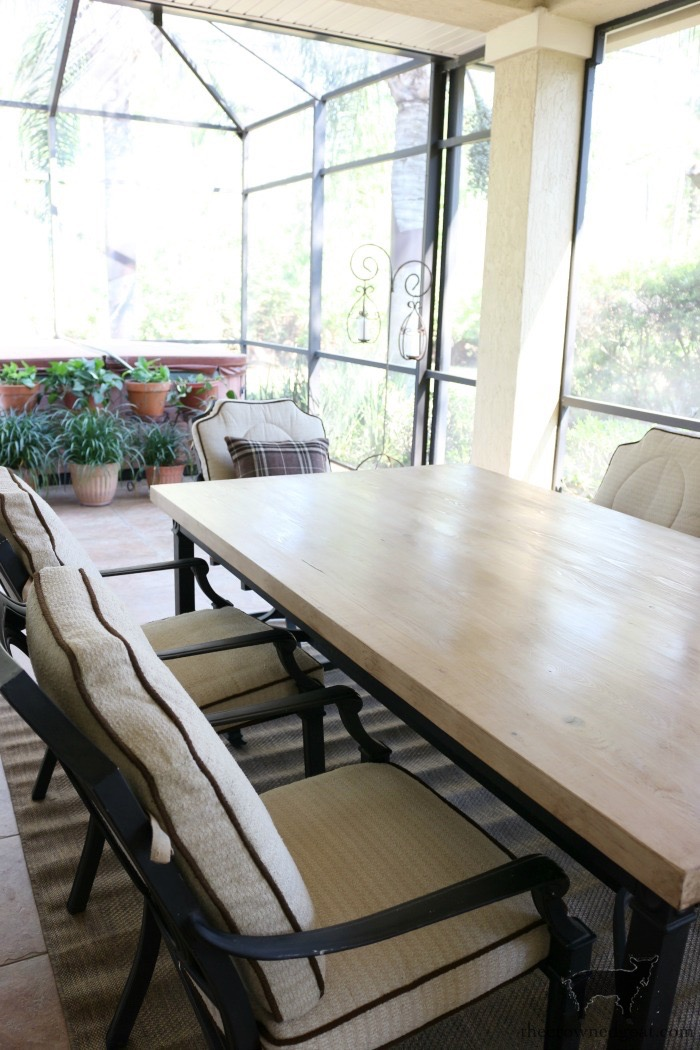 How-to-Make-an-Outdoor-Dining-Table-The-Crowned-Goat-17 Bliss Barracks Lanai Makeover: Outdoor Dining Table Bliss Barracks Decorating DIY