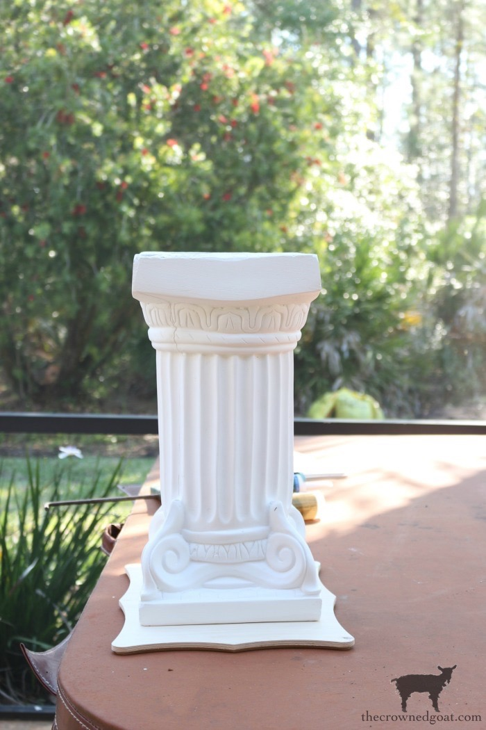 Make-Side-Tables-From-Columns-The-Crowned-Goat-11 Bliss Barracks Lanai Makeover: Side Tables from Columns Decorating DIY Painted Furniture