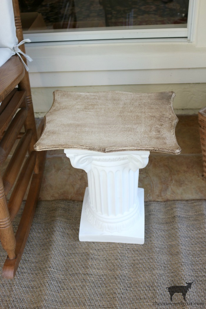Make-Side-Tables-From-Columns-The-Crowned-Goat-13 Bliss Barracks Lanai Makeover: Side Tables from Columns Decorating DIY Painted Furniture