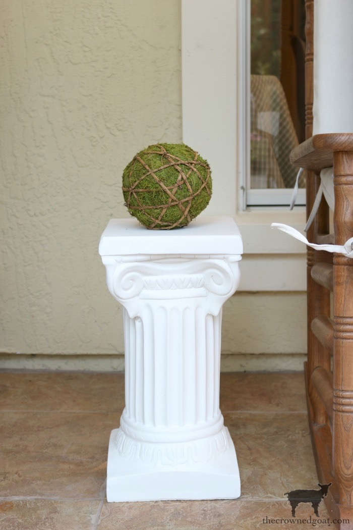 Make-Side-Tables-From-Columns-The-Crowned-Goat-4 Bliss Barracks Lanai Makeover: Side Tables from Columns Decorating DIY Painted Furniture