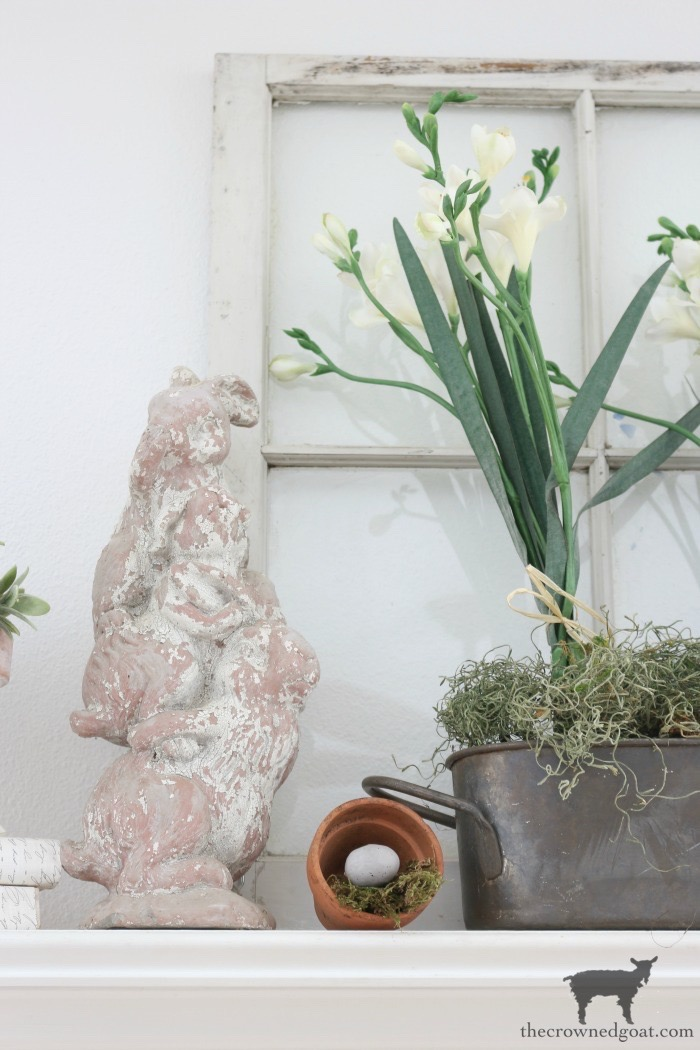 Spring-Mantel-Decorating-The-Crowned-Goat-4 Spring Mantel Décor Decorating Holidays Spring