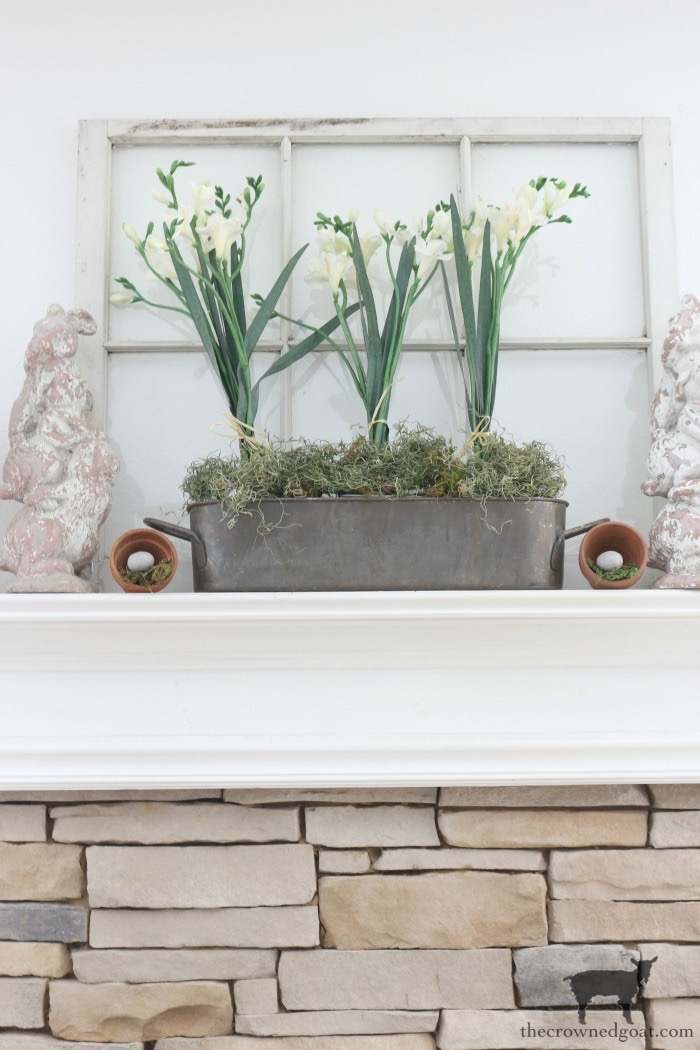 Spring-Mantel-Decorating-The-Crowned-Goat-5 Spring Mantel Décor Decorating Holidays Spring