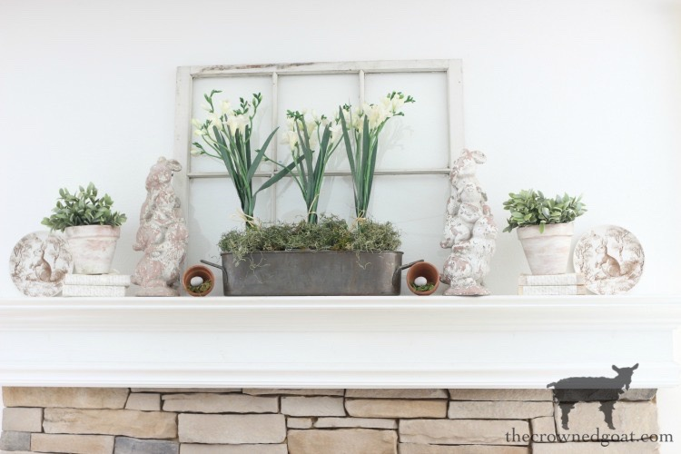 Spring-Mantel-Decorating-The-Crowned-Goat-7 Spring Mantel Décor Decorating Holidays Spring