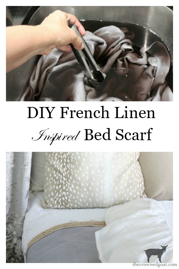 DIY-French-Linen-Bed-Scarf-The-Crowned-Goat-15 French Linen Inspired Bed Scarf Decorating DIY